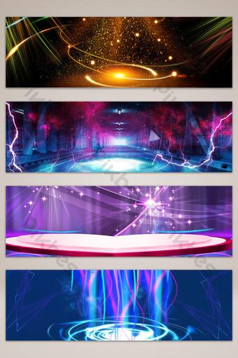 遊戲幻想舞台眩光橫幅海報背景 背景 模板 PSD
