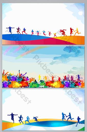 silueta dibujada a mano corriendo imagen de fondo juvenil Fondos Modelo AI