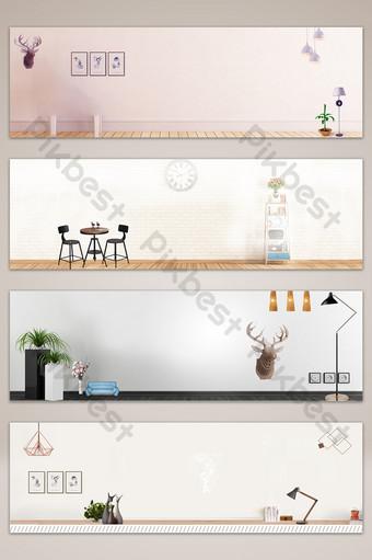mapa de fondo de banner de taobao de comercio electrónico de mejoras para el hogar simple y estilo Fondos Modelo PSD