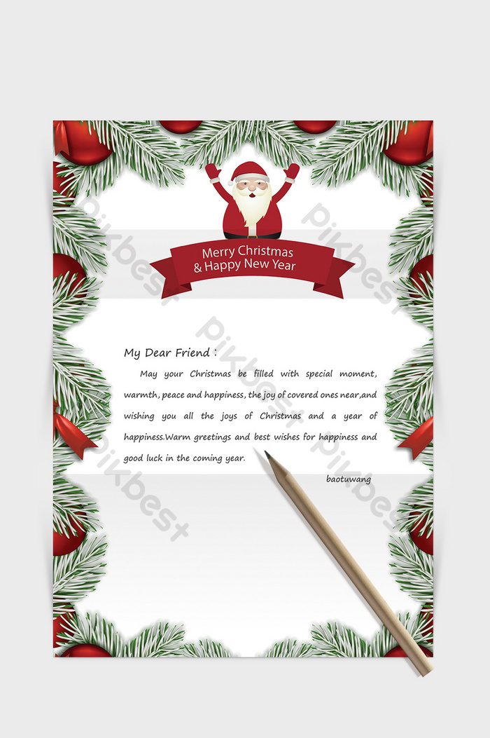 Free Holiday Letter Templates from pic.pikbest.com