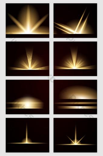 舞檯燈光燈光效果矢量圖 元素 模板 AI