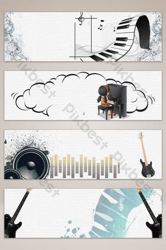 fondo de cartel de banner de rock de música de dibujos animados dibujados a mano Fondos Modelo PSD