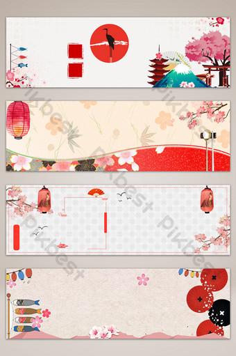 櫻花日本橫幅背景圖 背景 模板 PSD