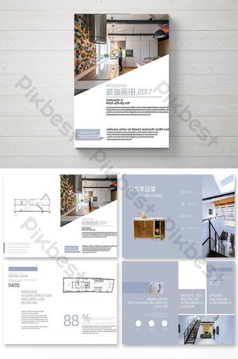 фиолетовый простой дизайн брошюры украшения мебели шаблон PSD