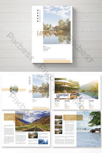 Conception de paquet de brochure de voyage simple et belle Modèle AI