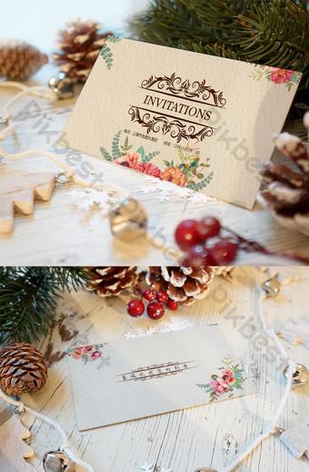 cat air yang dilukis dengan tangan kecil kartu ucapan undangan pernikahan gaya segar Templat PSD