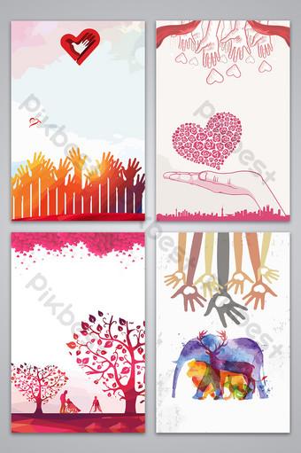 bienestar público caridad donar amor ayuda diseño de cartel imagen de fondo Fondos Modelo AI