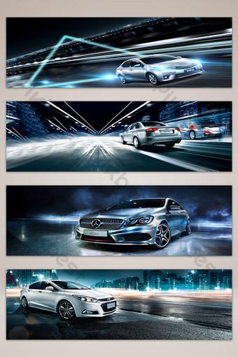 coche mostrar efecto de luz azul banner cartel fondo mapa Fondos Modelo PSD