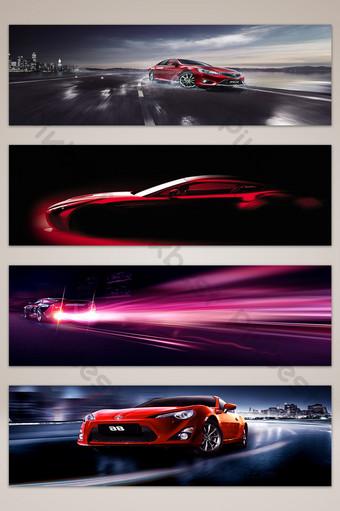 coche mostrar efecto de luz bandera roja cartel fondo mapa Fondos Modelo PSD