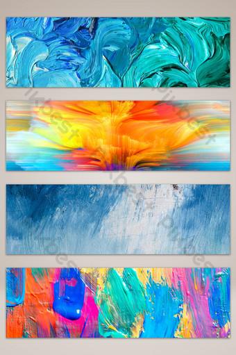 banner de fondo de graffiti de pintura al óleo con textura Fondos Modelo JPG