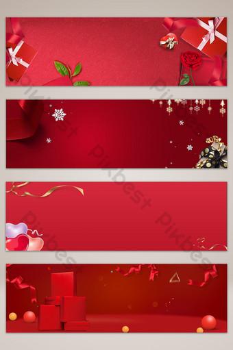fondo rojo del cartel de la bandera de la promoción de la caja de regalo Fondos Modelo PSD