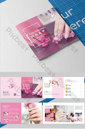 bộ brochure nail đẹp ngắn gọn và thời trang Bản mẫu AI