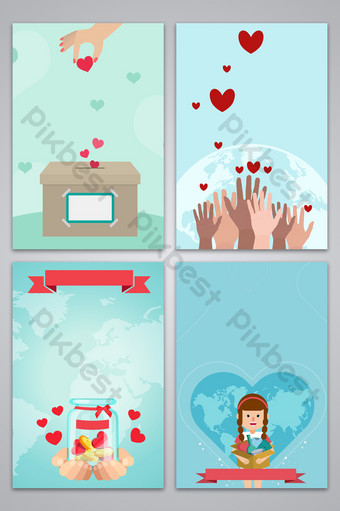 Simple volunteer service background map Backgrounds Template PSD