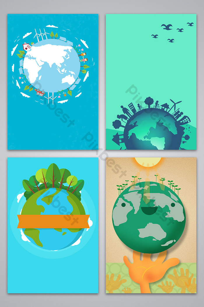 Protecting The Earth Public Service Advertising Background