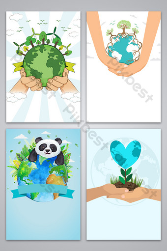 arbor day public service advertisement background map Backgrounds Template PSD
