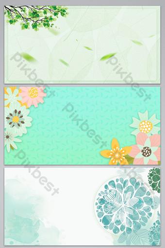 Wiosenne kwiaty wiosna ilustracja projekt tła Tła Szablon PSD