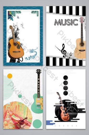 موسيقى الغيتار الأدبية الطازجة التسجيل تصميم ملصق صورة الخلفية خلفيات قالب PSD