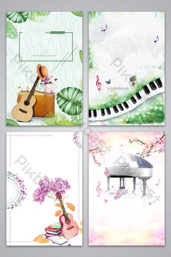 بسيطة صغيرة وجديدة الموسيقى الغيتار تصميم ملصق صورة الخلفية خلفيات قالب PSD