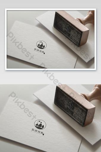 tarjeta y tarjeta de visita estampado en caliente efecto de impresión plateada logo pegatina Modelo PSD