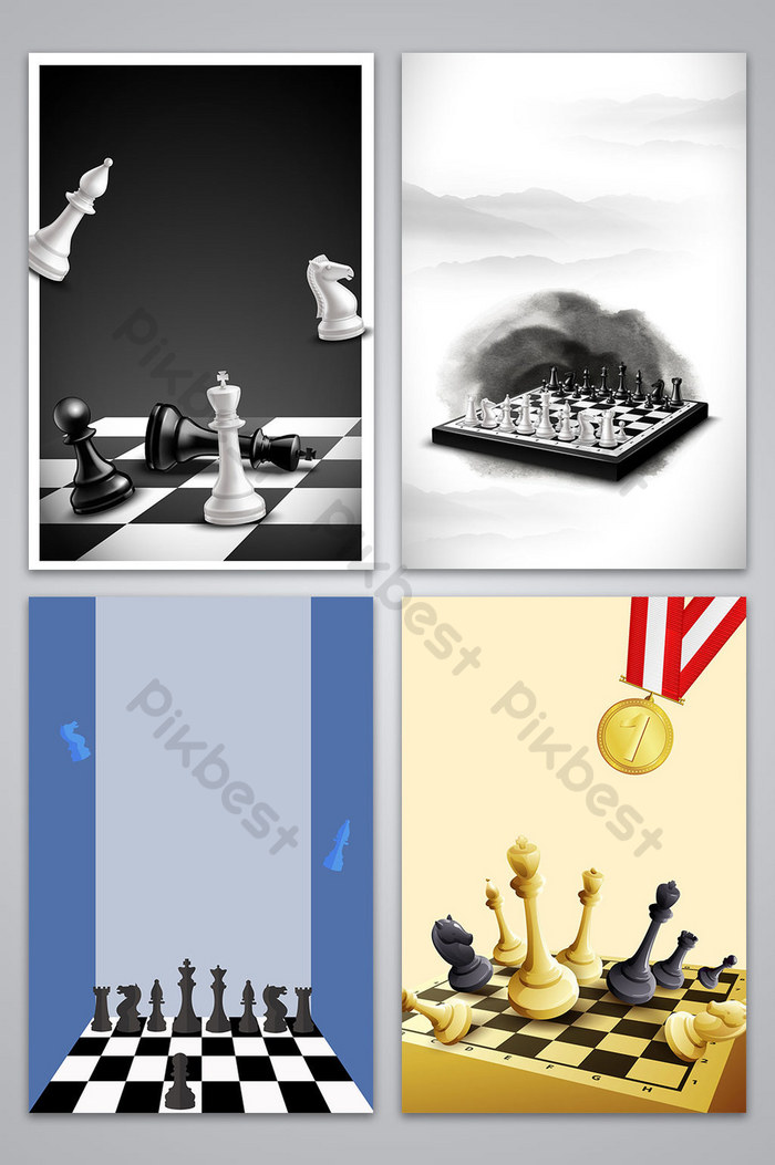 vector chess game propaganda poster background illustration