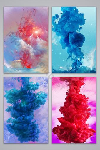 fondo de diseño de publicidad de textura de humo de color Fondos Modelo PSD