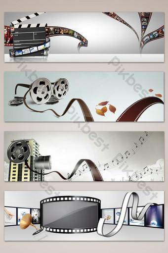 latar belakang poster spanduk film sastra minimalis Latar belakang Templat PSD