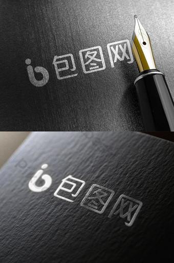 impresión de tarjetas dorado efecto plateado logo maqueta pegatina inteligente Modelo PSD