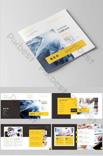 Brochure de l'équipe d'entreprise de style noir et jaune Modèle AI