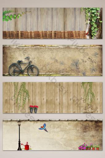 質感文藝攝影藝術橫幅海報背景 背景 模板 PSD