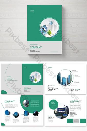 Conception de brochure d'investissement immobilier financier d'entreprise élégante et simple créative Modèle AI
