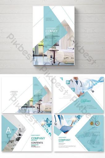 مجموعة من تصميم وتخطيط كتيب صور الجراحة التجميلية الطبية العامة الخضراء قالب AI