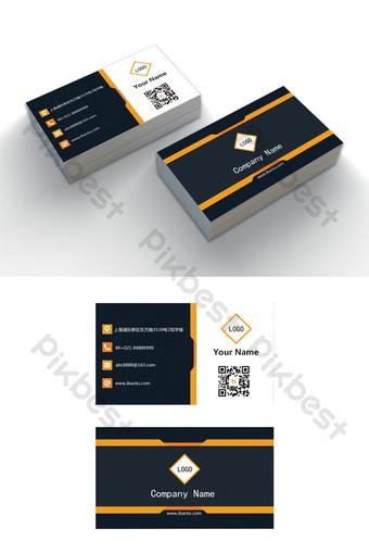 Modèle de carte de visite d'entreprise modifiable mot élégant bleu foncé Word Modèle DOC