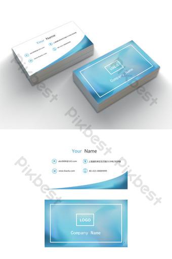 Modèle de carte de visite d'entreprise modifiable de mot simple élégant bleu Word Modèle DOC