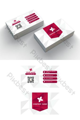 Modèle de carte de visite d'entreprise modifiable mot minimaliste polygonale à la mode Word Modèle DOC
