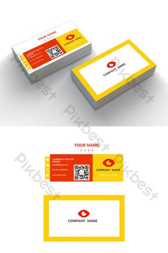 Modèle de carte de visite modifiable de mot simple coloré Word Modèle DOC