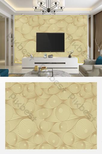 現代簡約客廳臥室幾何線條電視背景牆 裝飾·模型 模板 AI