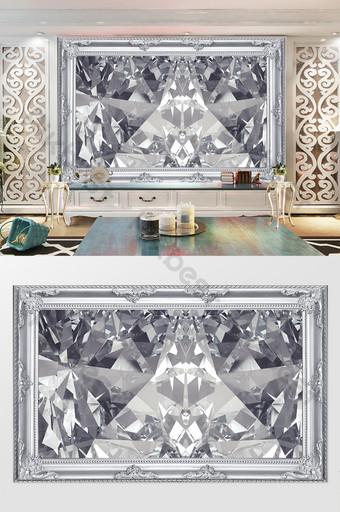decoración de fondo de diamante de marco de plata de encanto brillante Decoración y modelo Modelo PSD