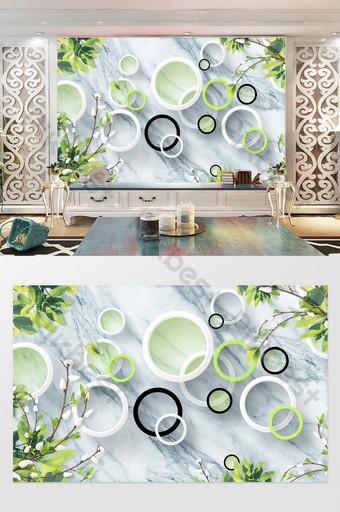 tiga dimensi lingkaran 3d dekorasi latar belakang tekstur marmer sederhana Dekorasi dan model Templat PSD