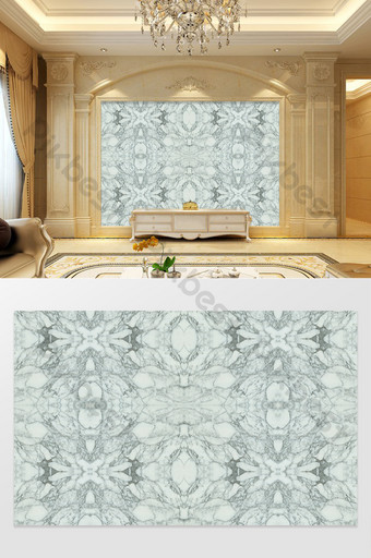 الرخام نمط زهرة كبيرة خلفية الجدار الأبيض الديكور والنموذج قالب PSD