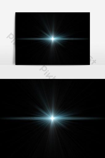 閃燈效果鏡頭光暈 元素 模板 PSD