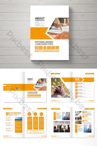 conception de paquet de brochure de voyage frais orange Modèle AI
