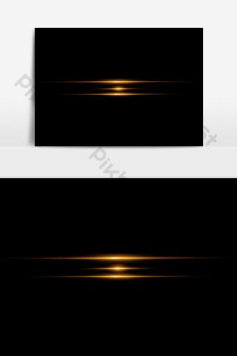 金色的燈光效果元素 元素 模板 PNG
