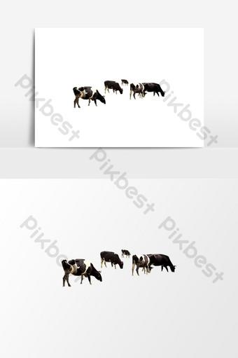 Yếu tố dễ thương bò ăn cỏ Công cụ đồ họa Bản mẫu PNG