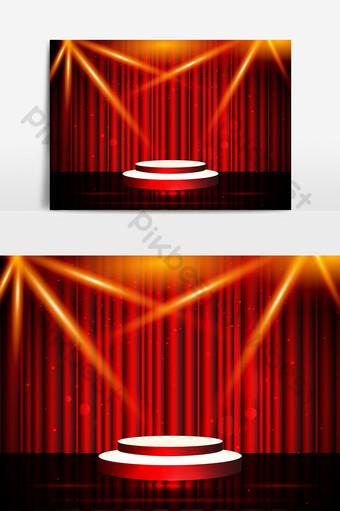 酷光舞台背景 元素 模板 AI