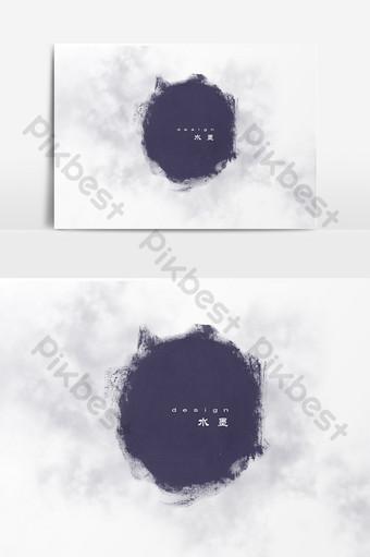 vector de patrón decorativo de tinta Elementos graficos Modelo PSD