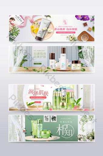 Taobao prosty styl wiosna i lato nowy plakat mody szablon transparent E-commerce Szablon PSD