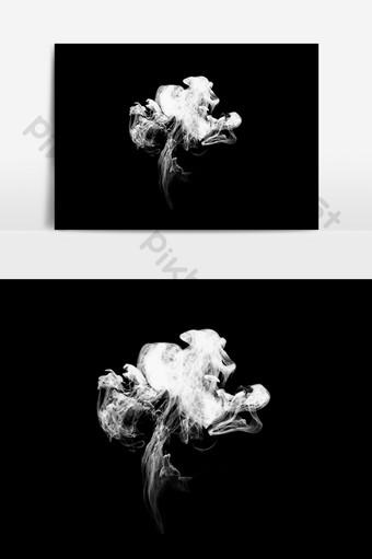 煙效果煙灰矢量圖 元素 模板 PSD