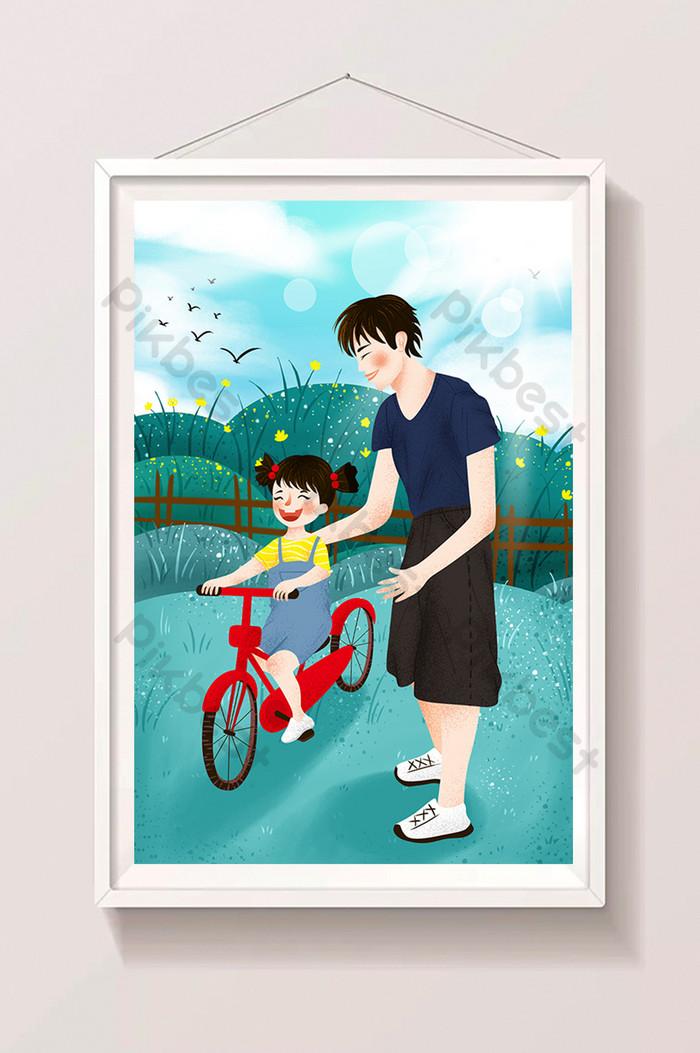 Ilustrasi Kartun Selamat Hari Bapa Dan Selamat Hari Bapa Ilustrasi Psd Percuma Muat Turun Pikbest
