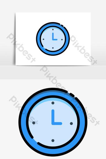 elemento de vector de reloj de tiempo de estilo mbe simple de negocios Elementos graficos Modelo AI