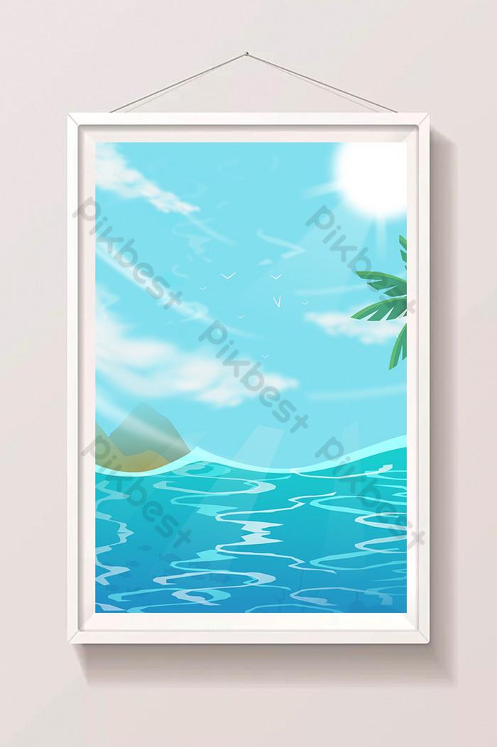 beau ciel bleu soleil de la mer fraîche